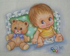 Bebe pintura em tecido | para bebês | enxoval