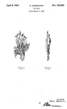 G. VERRECCHIO, 1941 No. 126,490 pin clip