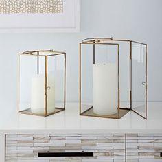 Brass Lanterns #westelm