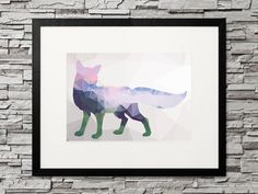 Fuchs, Low Poly Fox - geometric Animal. Geometrische Dreiecke, modernes Design für deine kreative Gallery Wall Low Poly, Printable Designs, Printables, Product Offering, Design Show, Gifts For Family, Decorating Your Home, Moose Art, Gallery Wall