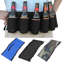 Fashion 6 Pack Beer Soda Belt Party Hiking Drinks Bottles Holders Gifts New Arrival