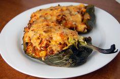 Cooking: Chorizo, Shrimp & Rice Stuffed Poblano Chiles