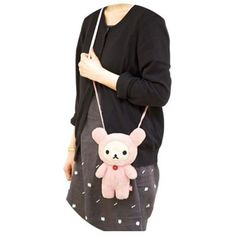 Rilakkuma white bear plush pouch bag by San-X