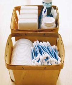 cute bathroom organizing idea