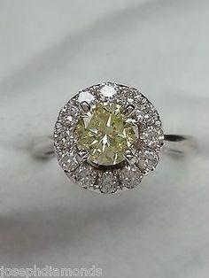 GIA-Appraised-1-43-carat-Fancy-Yellow-Diamond-Halo-Engagement-Ring-14k-Stunning