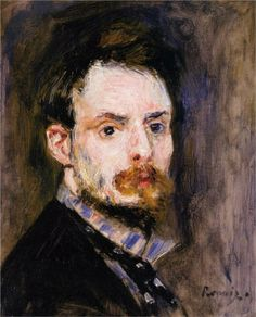 Pierre-Auguste Renoir (French 1841–1919) [Impressionism] Self-Portrait, 1875. Sterling and Francine Clark Art Institute at Williamstown, MA, USA.