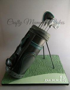 Golf bag cake - Cake by CraftyMummysCakes (Tracy-Anne)