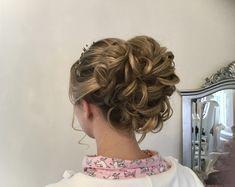 Curled Wedding Hair, Short Wedding Hair, Curl Styles, Short Hair Styles, Wedding Hairstyles Half Up Half Down, Up Hairstyles, Wedding Makeup, Curls, Dreadlocks