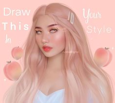 acetaldigital with the 🍑 . Art Style Challenge, Drawing Challenge, Art Prompts, Illustrators On Instagram, Aesthetic Drawing, Elements Of Art, Kawaii Art, People Art, Fashion Art