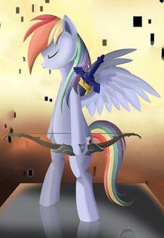 My Little Pony: Friendship is Magic & The Legend of Zelda: Twilight Princess - Rainbow Dash/Link mashup