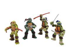 """4PCS Teenage Mutant Ninja Turtles Classic Collection 4.7"""" TMNT Figure m toy 7"""