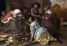 Desde el otro lado del cuadro: The effects of intemperance - Jan Steen