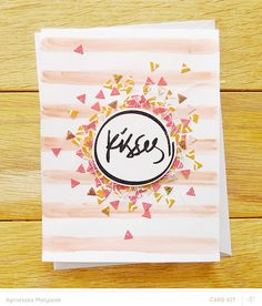 Triangle confetti card - by Agnieszka, at 'just made from paper'
