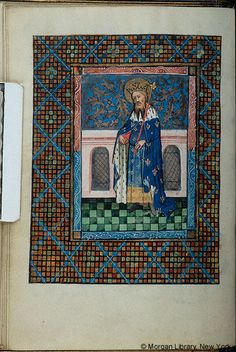 Book of Hours, MS fol. - Images from Medieval and Renaissance Manuscripts - The Morgan Library & Museum Medieval Pattern, Morgan Library, Christian Devotions, Book Of Hours, Blessed Virgin Mary, Diapering, Illuminated Manuscript, King Queen, Middle Ages