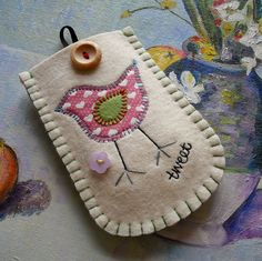Tweet Tweet Felt Phone Case by suezybees, via Flickr