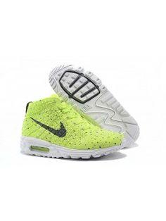 release date: 98287 c1a0e Nike Lunarmax Flyknit Chukka Dam Herr Cool Wolf Electric Grön Grå SE258862