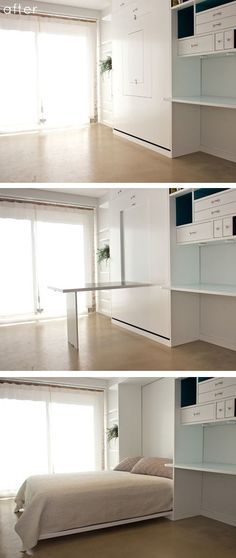 Space-Saving Furniture space-saving design by General Assembly - minimalism, minimalist living space, small space design, space-saving furniture, multifunctional furniture