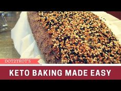 Low Carb Bread With Flax Seed, Coconut, Hazelnut Flour - YouTube