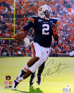 This is a 16x20 photo that has been hand signed by Cam Newton. This autograph is certified authentic by PSA/DNA and comes with their sticker and matching certificate of authenticity.