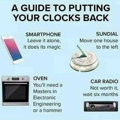 Clocks Go Back, Beast From The East, Days And Months, Naughty Quotes, Fall Back, Clean Memes, Electronic Engineering, Sundial, Moving House