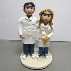 Reserved for Kathlyn Custom Chemists Wedding cake topper polymer clay by clayinaround on Etsy