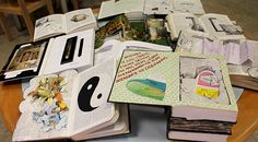 book sculptures. tadanori yamaguchi's workshop