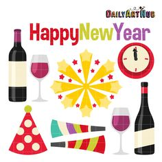 FREE Happy New Year Clip Art Set