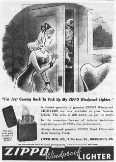 Vintage Zippo Advertisement from 1945