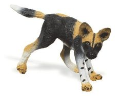 Safari ltd 239829 - African wild dog pup Farm Animals, Animals And Pets, Wild Animals, Schleich Horses Stable, Safari, Animal Action, African Wild Dog, Dangerous Animals, Dog Games