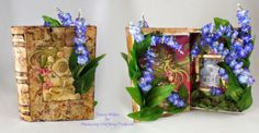 Tutorial: Mixed Media Book Box tutorial using Amazing Crafting Products and Frog Dog Studios supplies by Tracy Alden.