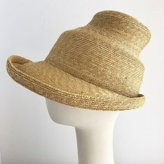 3870a39b5f8 Wide Brimmed Pagoda Sun Hat in Natural Straw