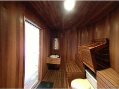 Studio City, California--$1,325,000.   Previously owned by comedian Dennis Miller, this combination sauna/bathroom features a toilet that can be easily hidden by the drop-down sauna seat. This combo raises also sorts of questions and concerns.