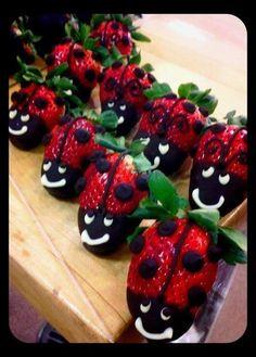 Ladybug strawberries