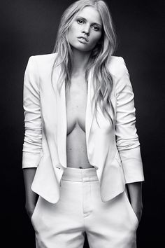Lara Stone by Daniel Jackson for Harpers Bazaar April 2014