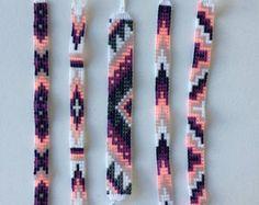Bead Loom vriendschap armband van MichikoJewelry op Etsy