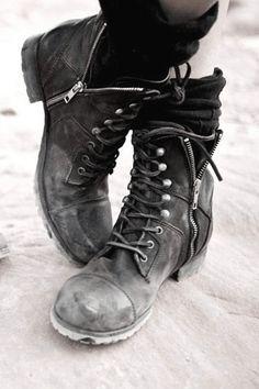 combat boots...