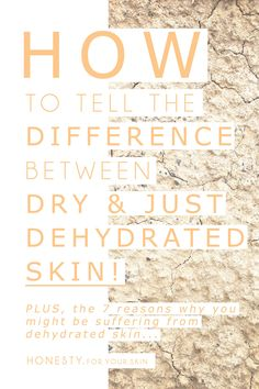 Have you ever been in THIS situation... you think you know your skin-type and them BAM out of the blue, there is a change! Well, that might actually be a symptom and NOT a change in skin type. It's easy to think we suddenly have dry skin (when it always used to be oily..) but you could actually just have dehydrated skin. Dehydrated skin has a CAUSE, and that is something that you can TREAT, that means it's easy to wave goodbye and help to 'dry patch' free skin again, here is how…