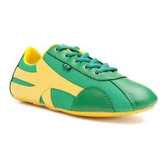 Sapatilha shoes in green/yellow by Rio Soul ❤ liked on Polyvore featuring shoes, green shoes, yellow shoes and yellow green shoes