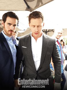 Colin O'Donoghue and Josh Dallas & a pop up Nina Dobrev Captain Swan, Captain Hook, Once Upon A Time, Movies Showing, Movies And Tv Shows, Ouat Cast, Josh Dallas, Colin O'donoghue, Vampire Diaries The Originals