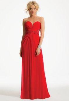 Strapless Lace Applique Illusion Sides Dress   Camillelavie.com #dresses #bridesmaid #lace #strapless #wedding #longdress #illusion