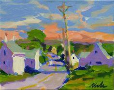 ''Evening Light of Truro'' Orig.Painting 8x10'' Canvas Cape Cod Cottage PleinAir #Impressionism