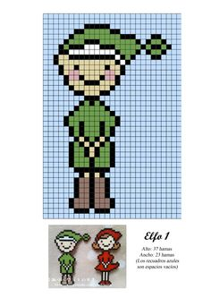 Elfo chico hama beads pattern