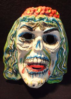 woman skull bride - plastic Halloween ask Boxing Halloween Costume, Halloween Masks, Holidays Halloween, Halloween Crafts, Halloween Ideas, Halloween Decorations, Monster Toys, Monster Mash, Creepy Faces