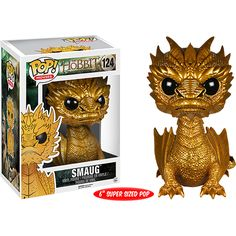 Buy The Hobbit Golden Smaug Oversized 6 Inch Funko Pop! Vinyl from Pop In A Box UK, the home of Funko Pop Vinyl subscriptions and more. Funko Pop Toys, Funko Pop Vinyl, Funko Figures, Vinyl Figures, Dragons, Pop Action Figures, Pop Figurine, O Hobbit, Pop Characters