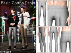 [심즈4] CC템 기본 면바지 (Basic Cotton Pants) : 네이버 블로그