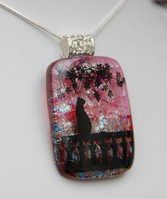 Fused glass pendant by Ninas Glassdesign