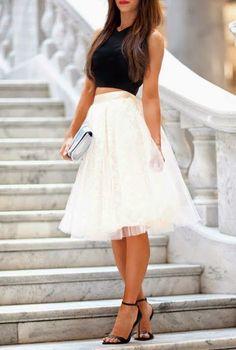 Adorably feminine. #fashion #style