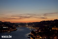 Nightview from the Ponte Luiz I in Porto, Portugal