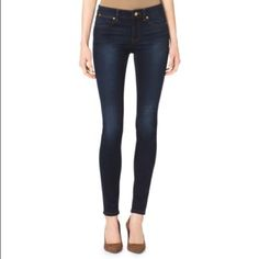 "✨REDUCED✨Michael Kors Dark Wash Skinny Jeans Gently worn but in great condition. Length 36"" Inseam 30"".  Model picture from Michael Kors website. Offers welcome! -74% Cotton/25% Polyester/1% Elastane  -Machine Wash Michael Kors Jeans Skinny"