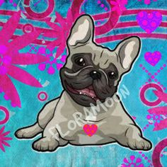 French Bulldog Canvas 18x18in (watermark will be removed)